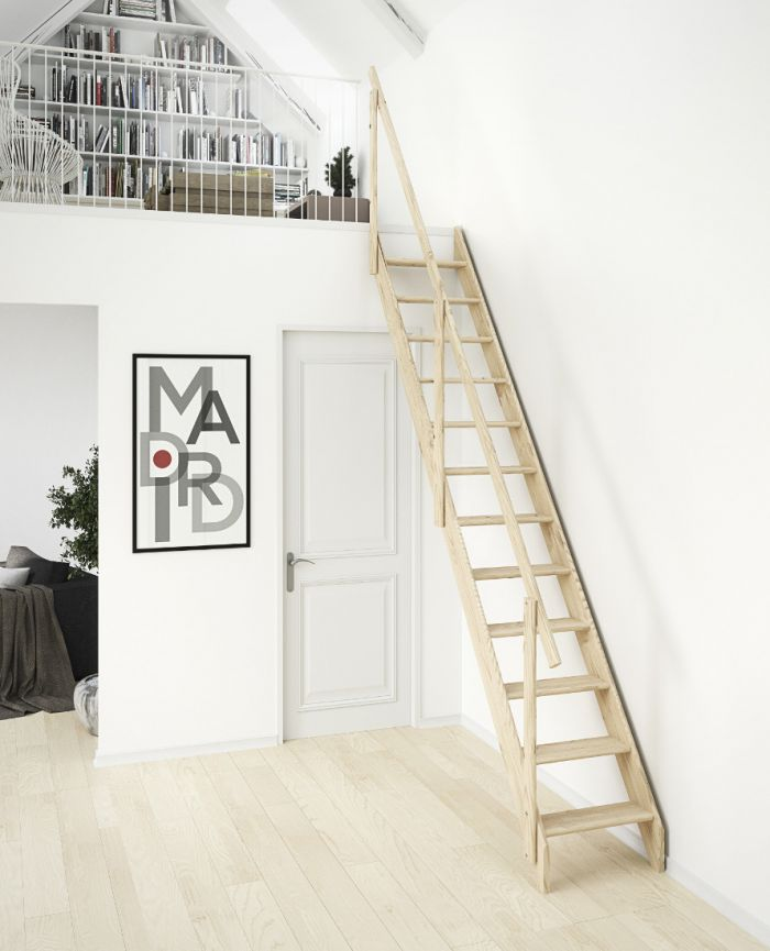 Dolle Madrid Wooden Space Saving Staircase Kit Loft Centre