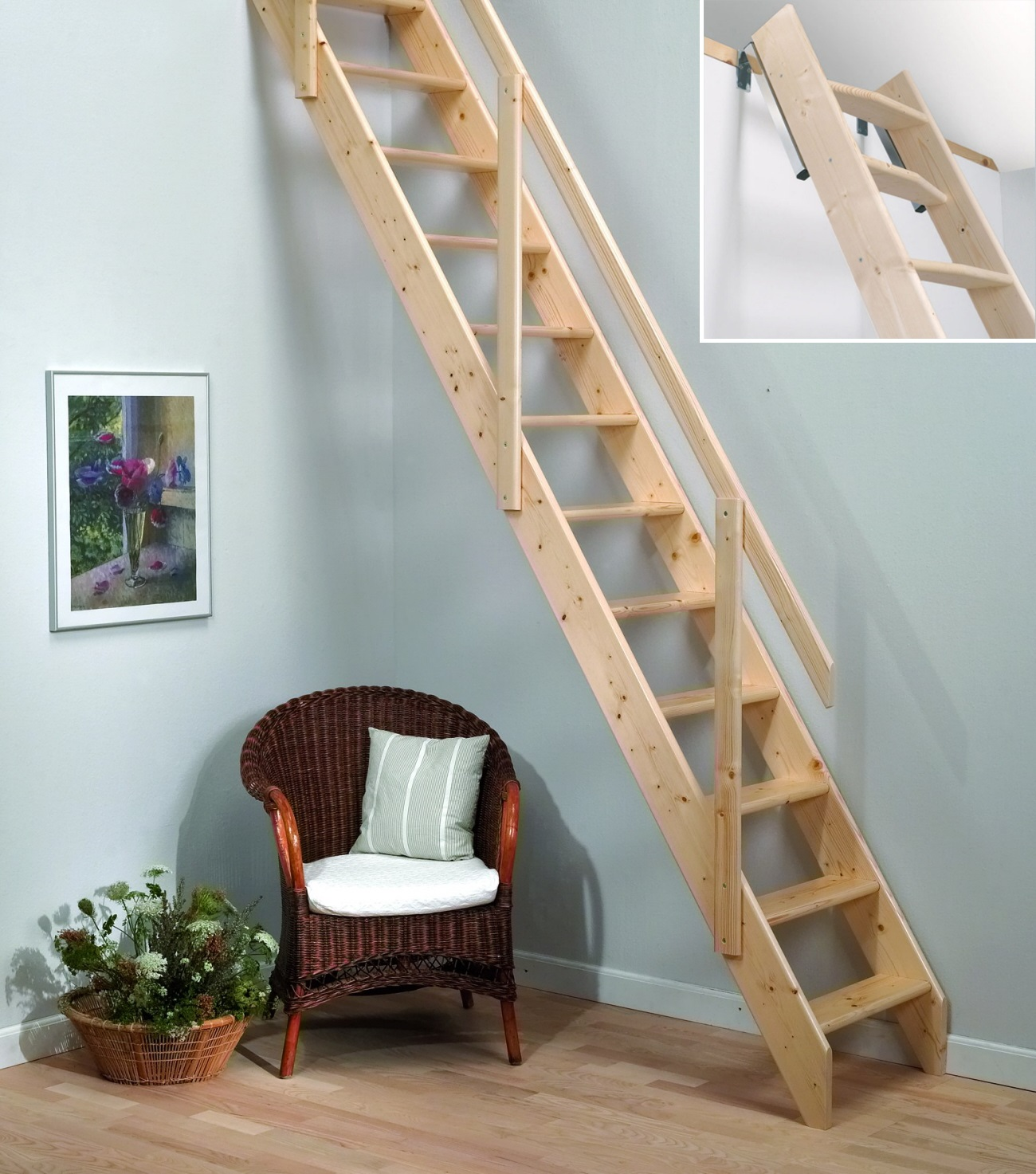 Merveilleux Details About Madrid Wooden Space Saver Staircase Kit (Loft Stair / Ladder)