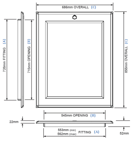 Slide Hatch Diagram